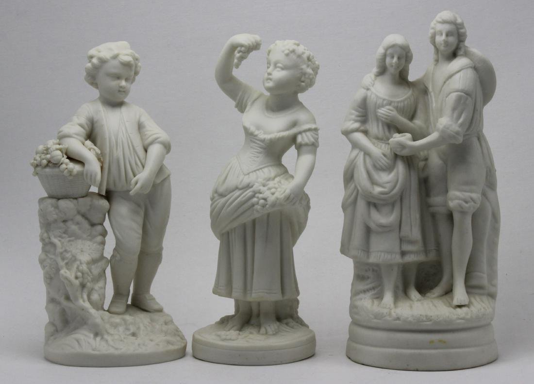 3 piece Minton Parian Figurines