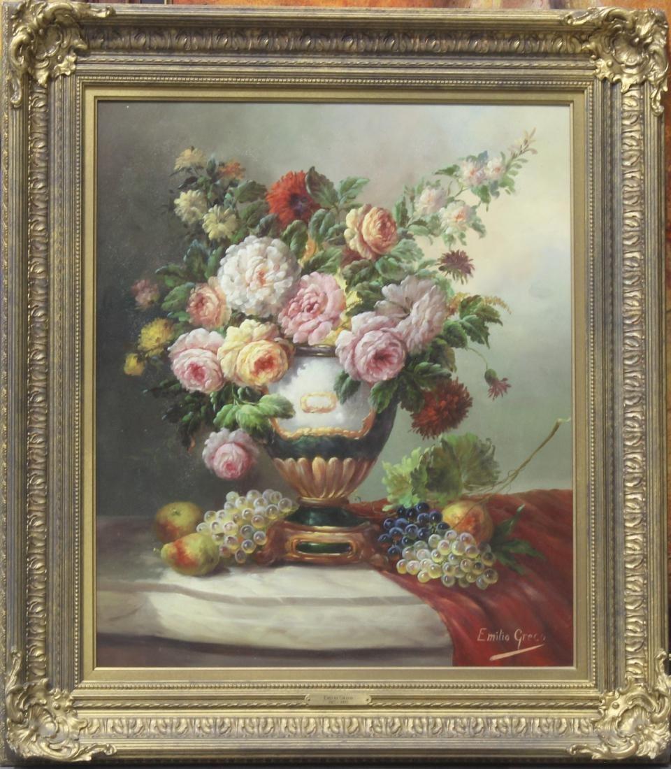 Emilio Greco Italian oil painting on panel