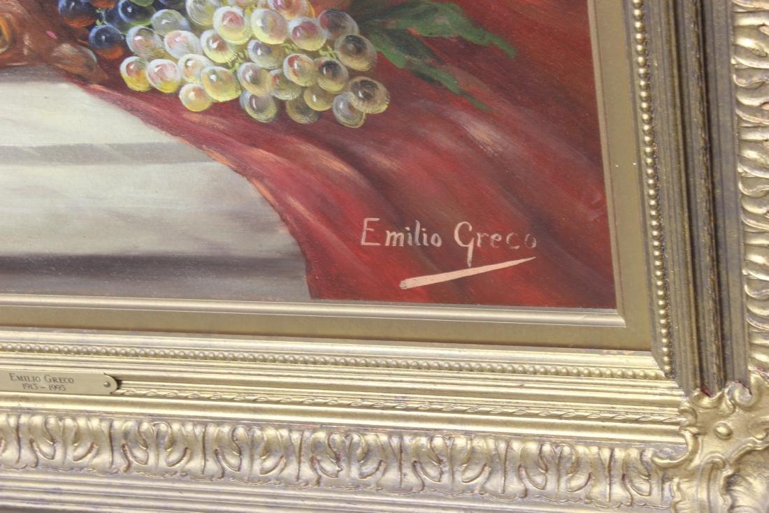 Emilio Greco Italian oil painting on panel - 2