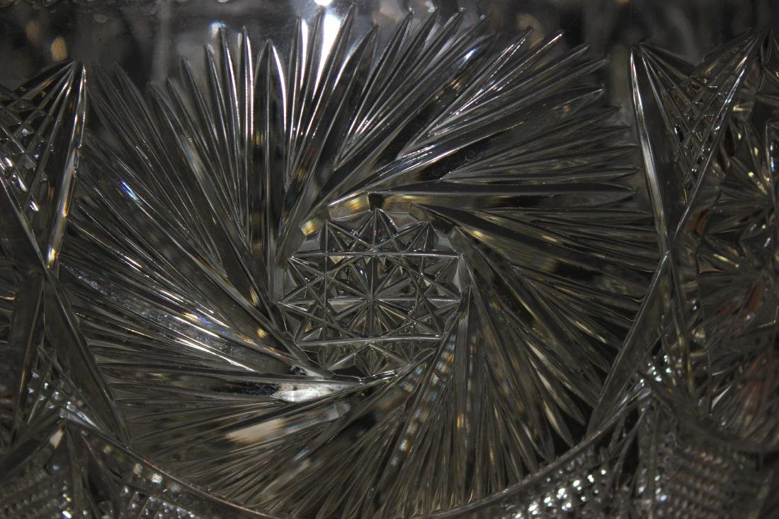 American Cut Glass punch Bowl - 5