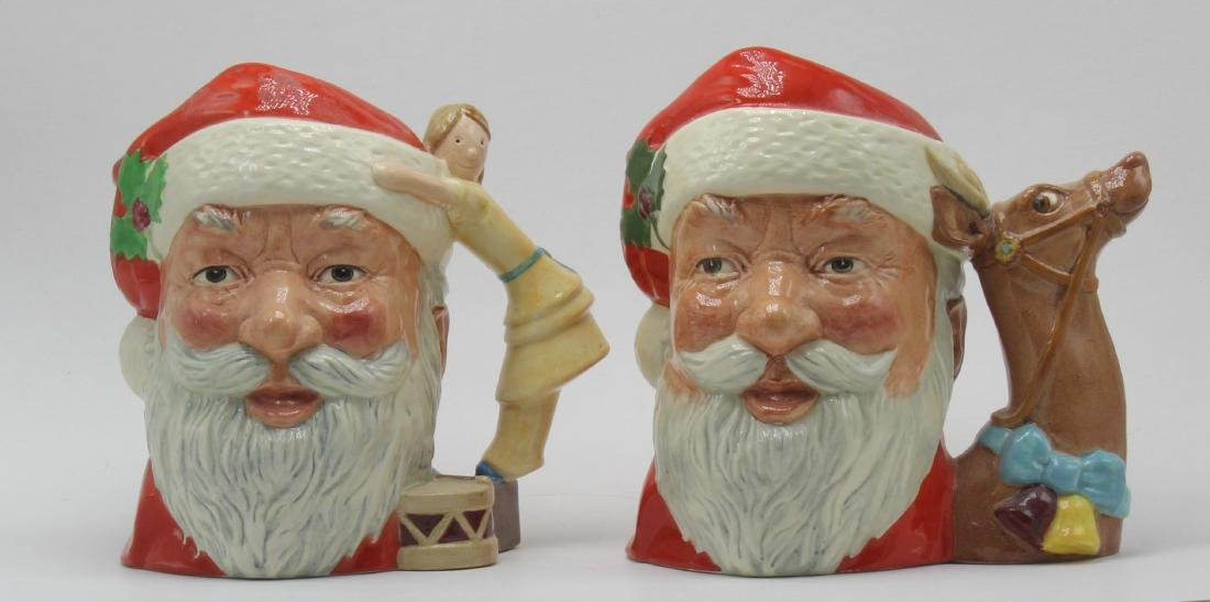 2 pieces Royal Doulton Santa Claus Charter Mug