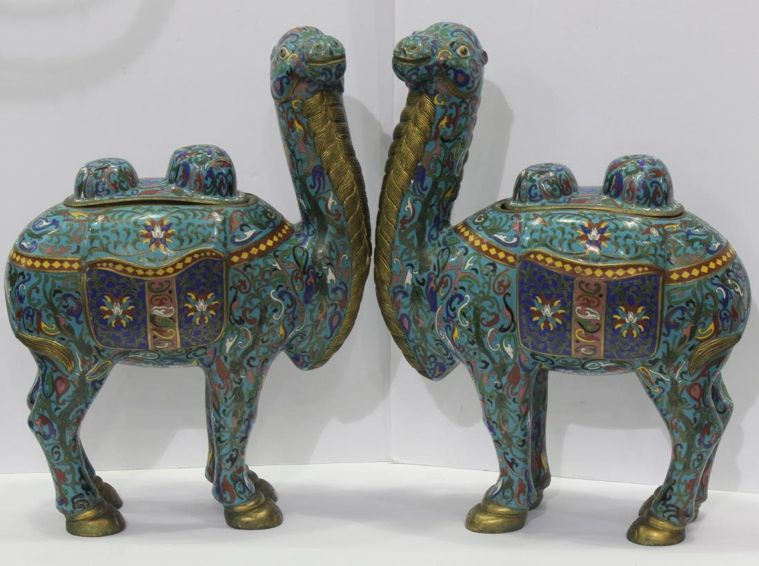 Pair of Chinese cloisonne Camels