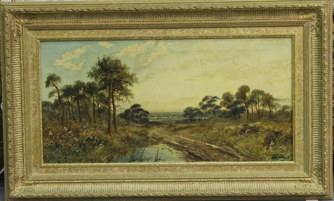 Antique Oil Painting on a carved frame