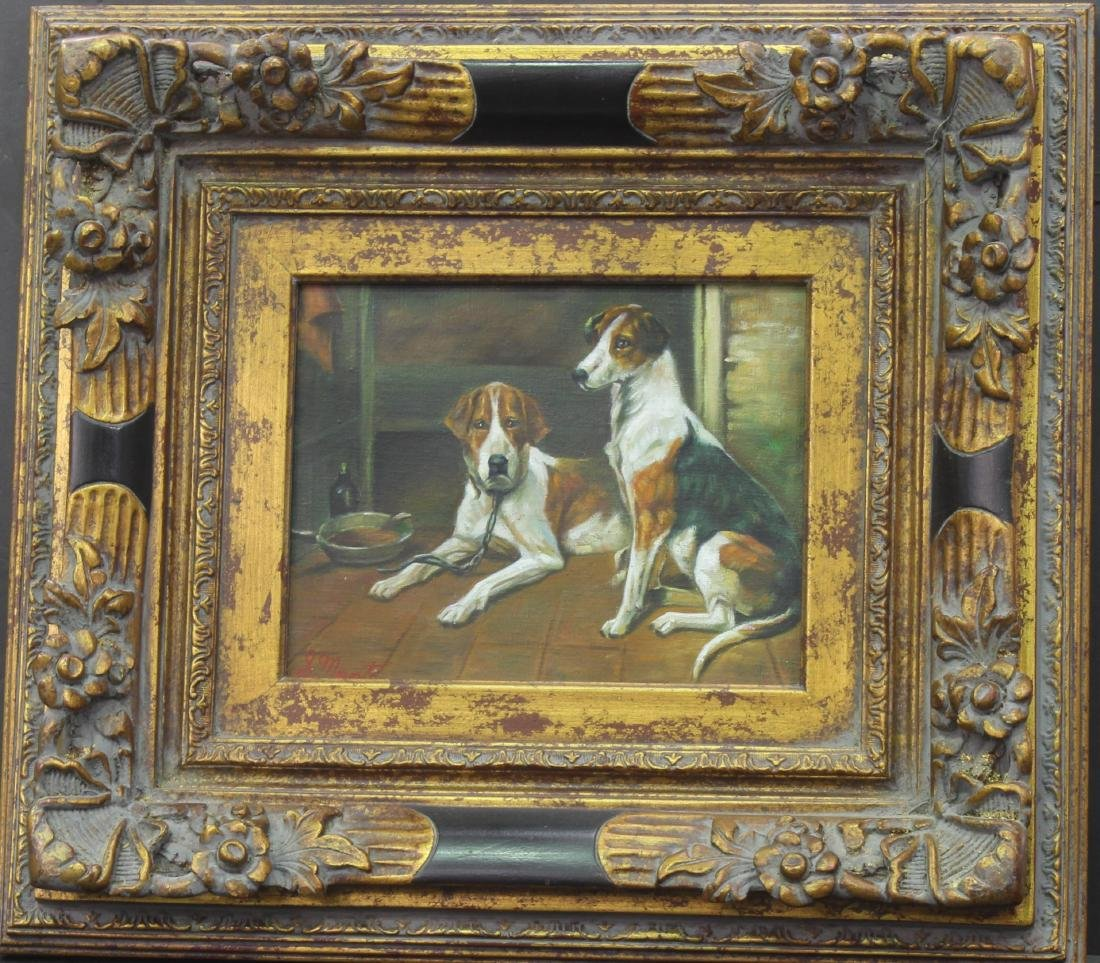 European Style of 2 Dogs in Frame