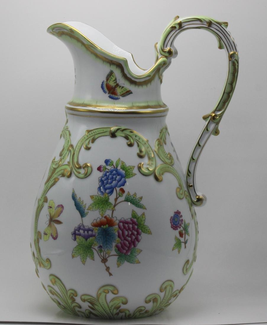 Herend Porcelain Queen Victoria Pitcher - 2