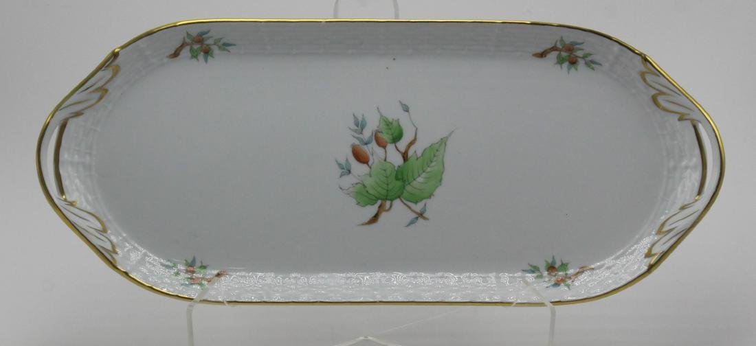 Herend Porcelain Handled Sandwich Tray