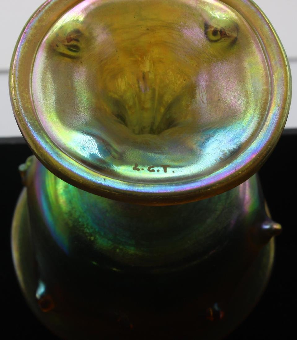Tiffany favrille glass compote - 3