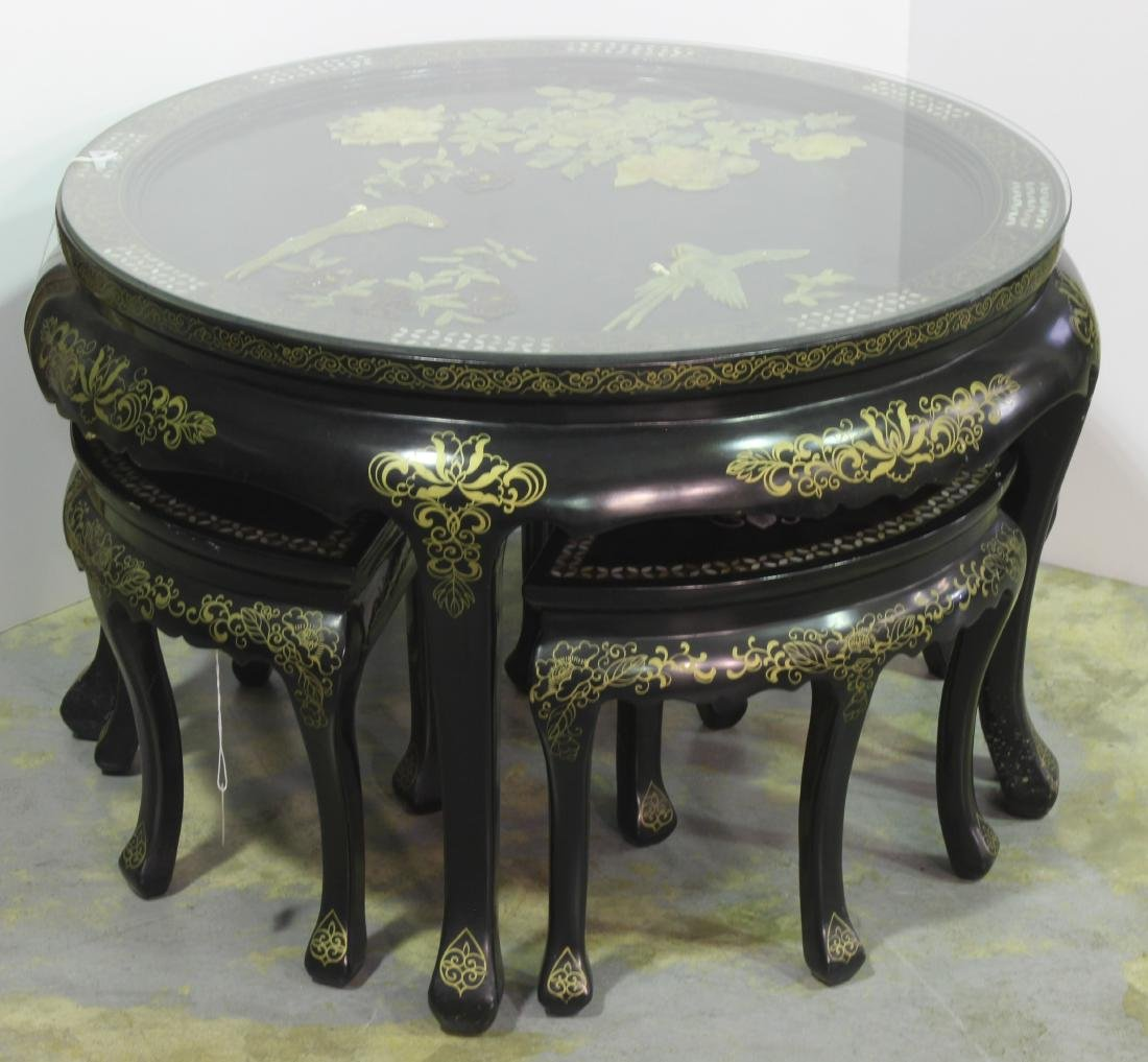 Mother of Pearl Chinese Republic  5 piece Lacquered - 2