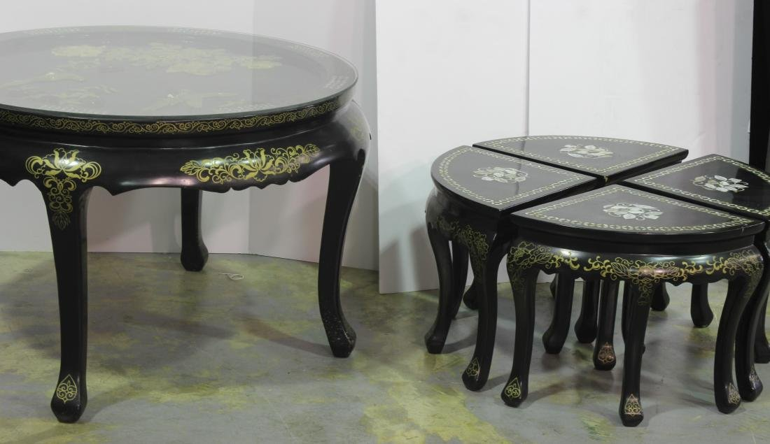 Mother of Pearl Chinese Republic  5 piece Lacquered - 3