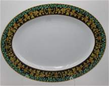 Rosenthal Versace Gold Ivy Oval Serving Plate
