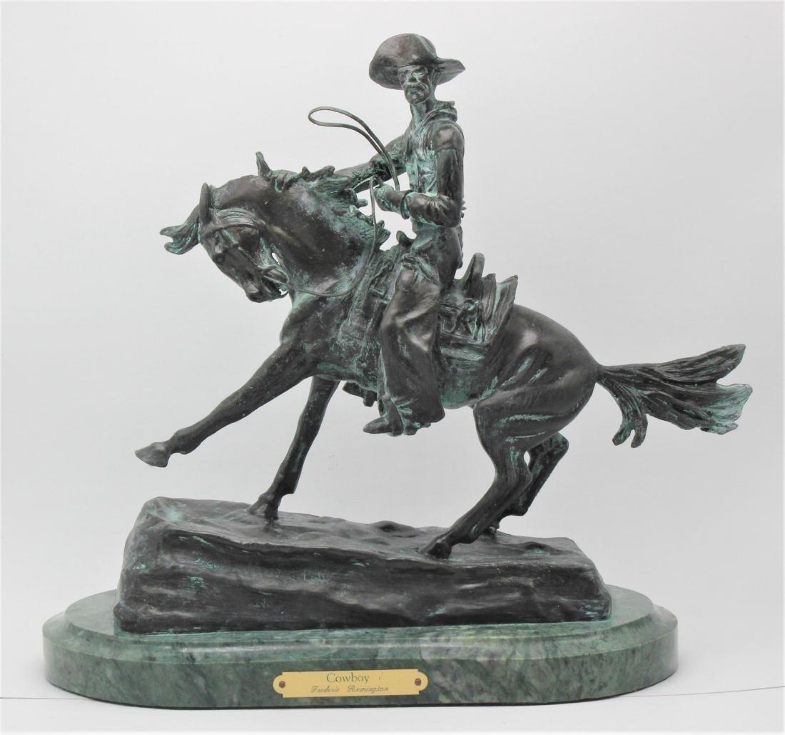 Frederick Remington the cowboy bronze
