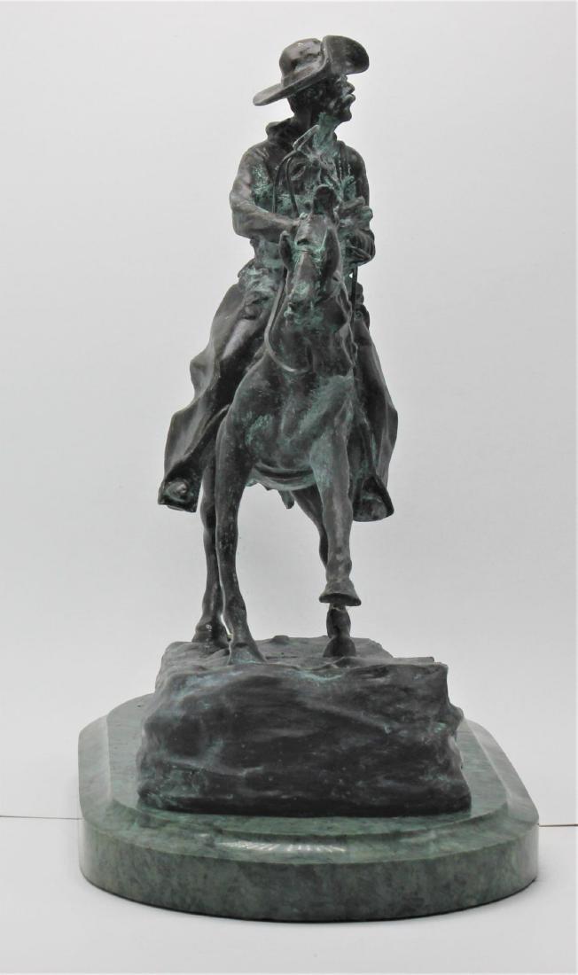 Frederick Remington the cowboy bronze - 5