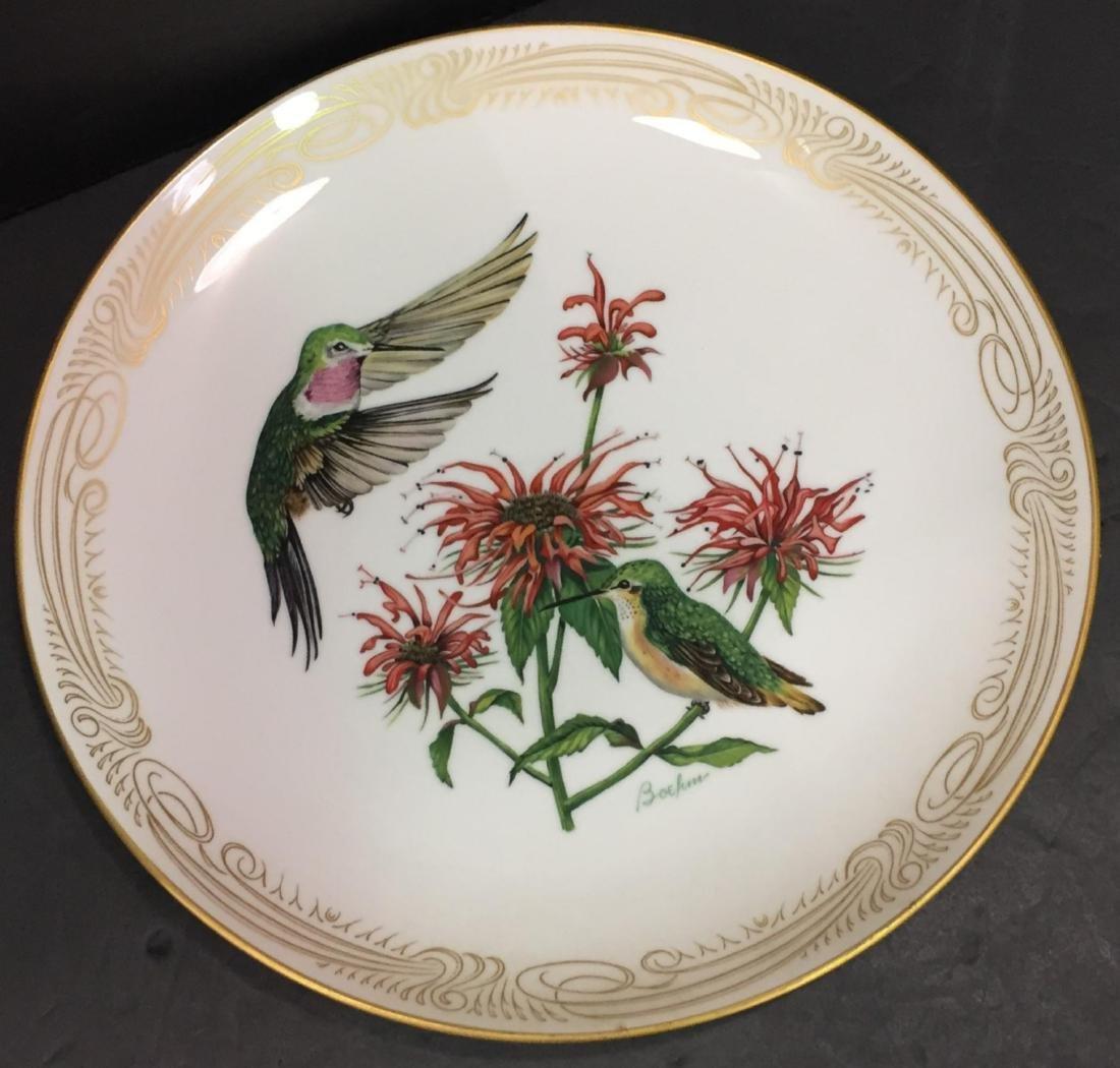 4 Pcs Boehm Porcelain Plates with Hand Painted Birds - 2