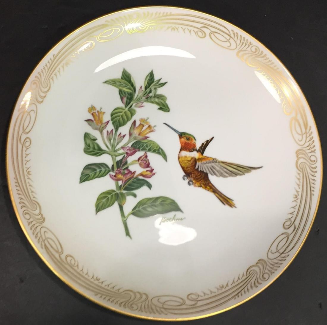 4 Pcs Boehm Porcelain Plates with Hand Painted Birds - 3