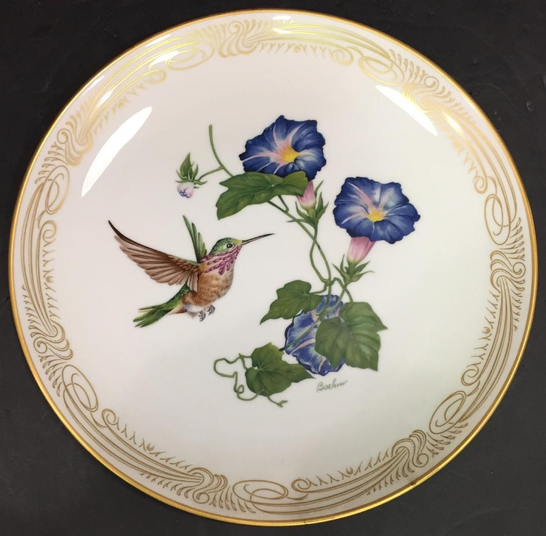 4 Pcs Boehm Porcelain Plates with Hand Painted Birds - 5