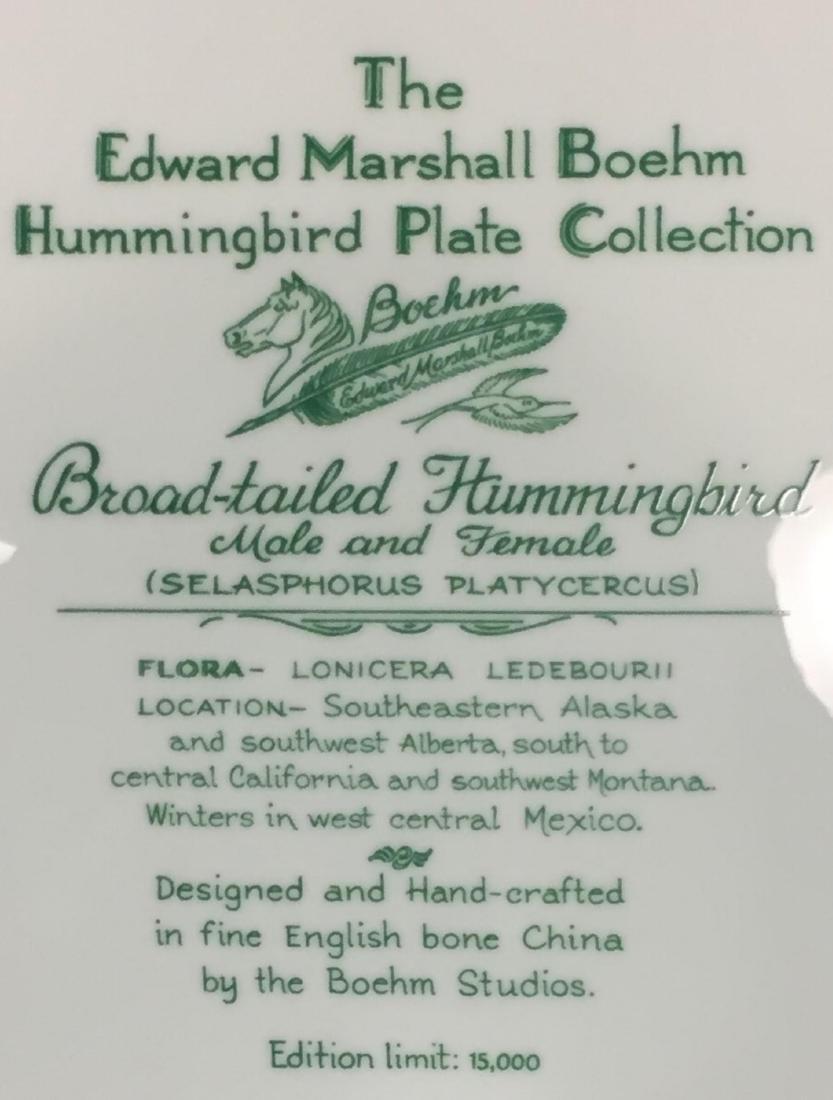 4 Pcs Boehm Porcelain Plates with Hand Painted Birds - 7