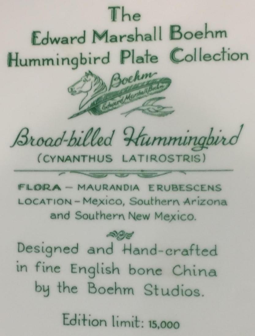 4 Pcs Boehm Porcelain Plates with Hand Painted Birds - 8