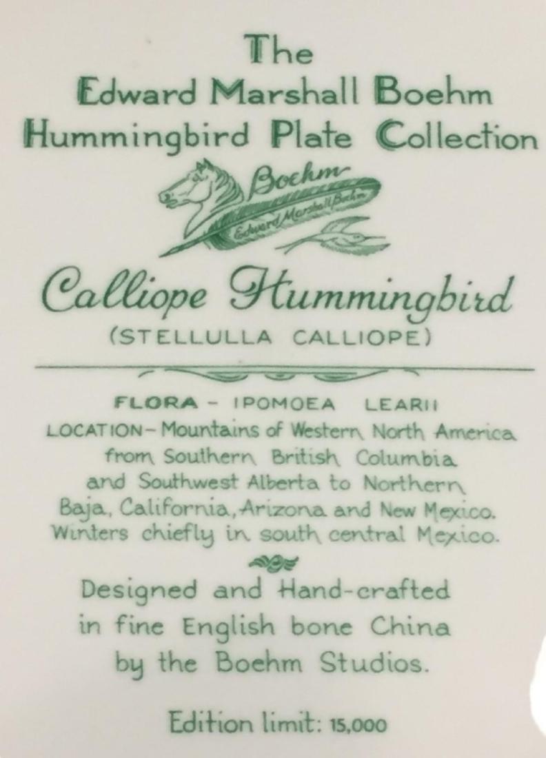 4 Pcs Boehm Porcelain Plates with Hand Painted Birds - 9