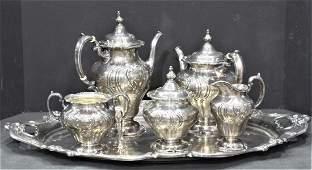 Gorham Chantilly Sterling Tea Set, Gorham Chantilly