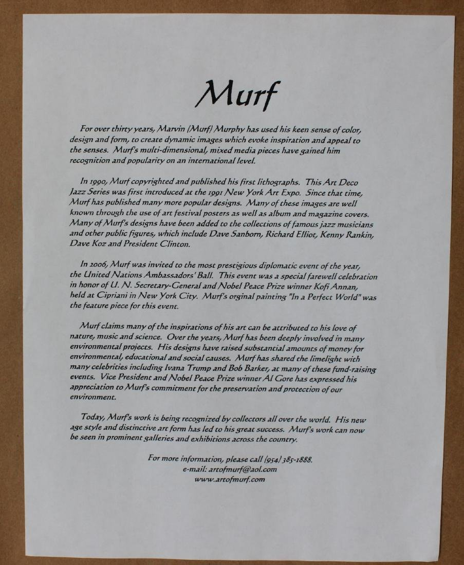 Limited Edition in the Lithograph Signed Murf - 3