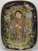 Edna Hibel Caro Kon Arte Rosenthal Porcelain Plate with