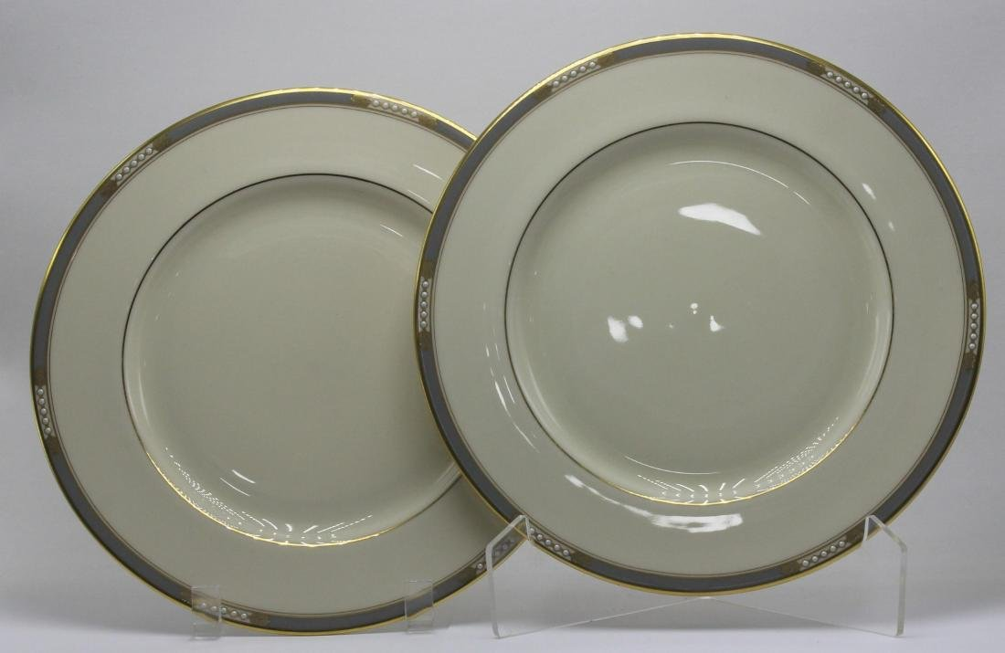 12 pc Lenox McKinley Gilt Colored Dinner Plates