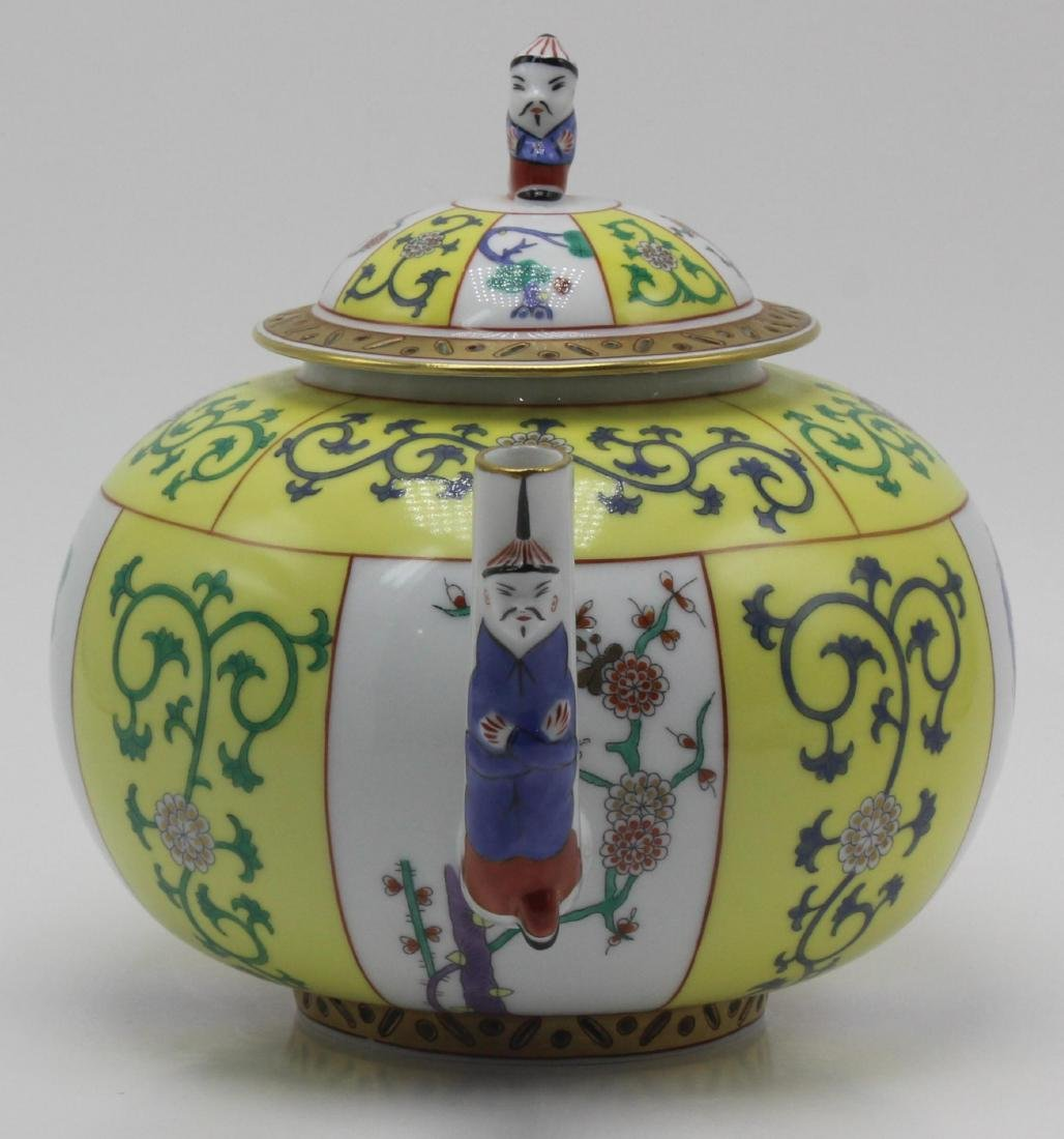 Herend (Hungary) yellow dynasty porcelain teapot - 2