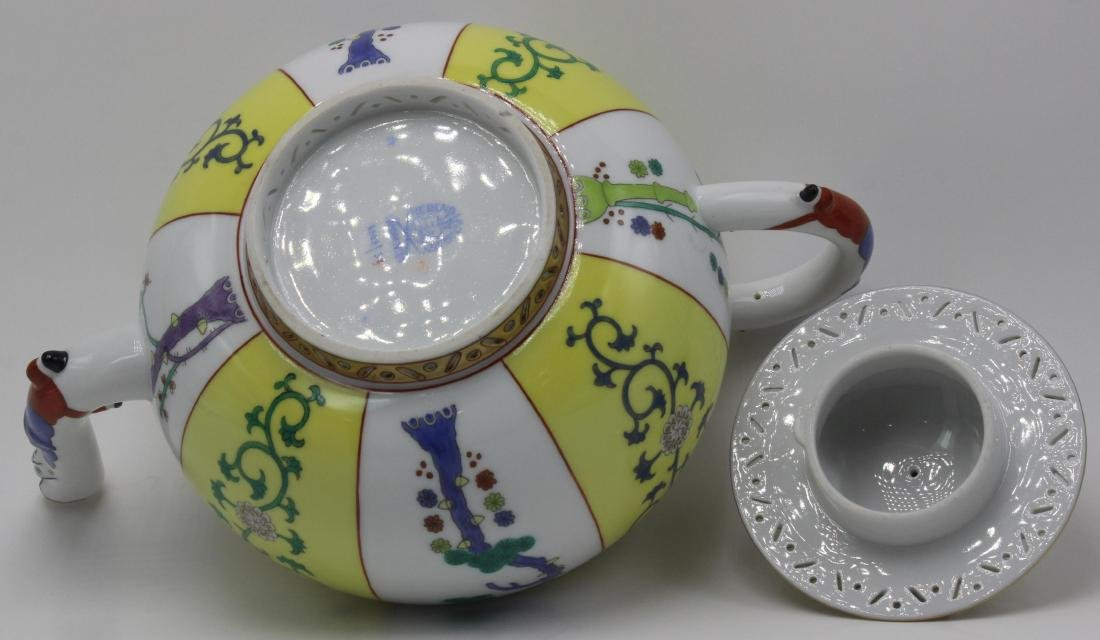 Herend (Hungary) yellow dynasty porcelain teapot - 3