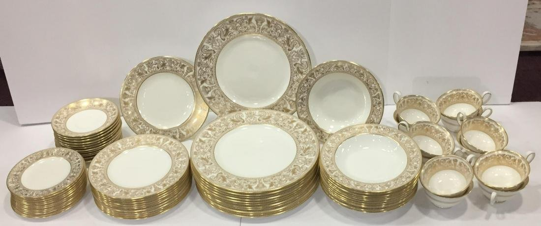 Wedgwood Gold Horentine China Service for 12