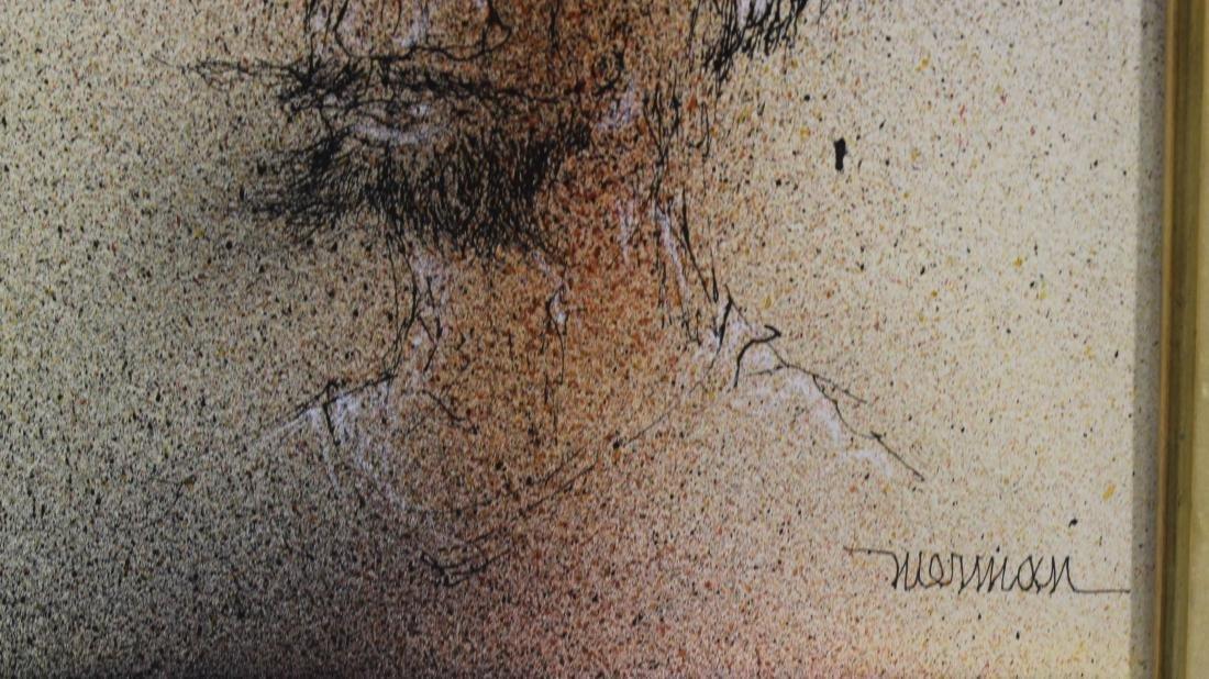 Leonardo Nierman Self Portrait Pen on Board - 2