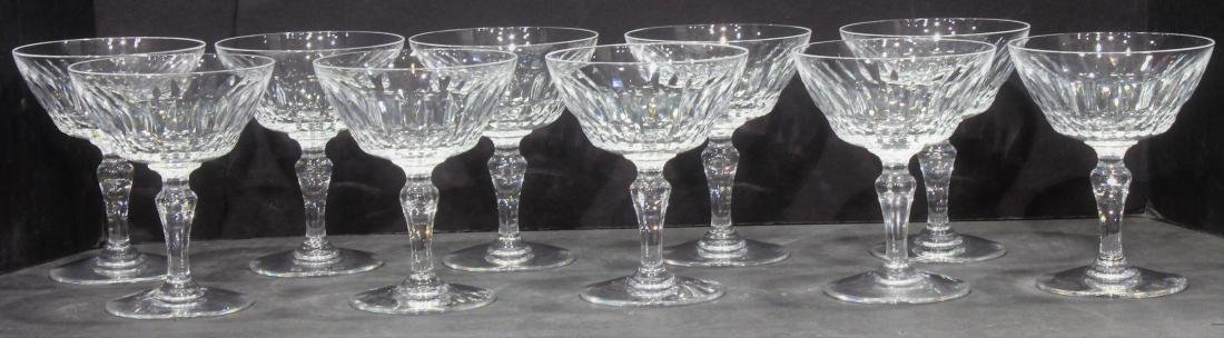 Baccarat Auteuil Crystal Lot 10 Champagne / Sherbet