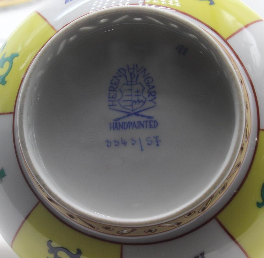 Herend (Hungary) Yellow Dynasty Porcelain Covered Sugar - 3