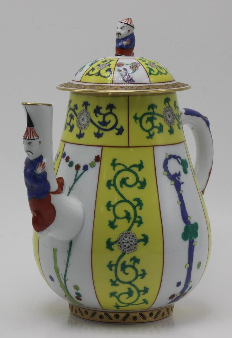 Herend (Hungary) Yellow Dynasty Porcelain Coffee Pot - 2