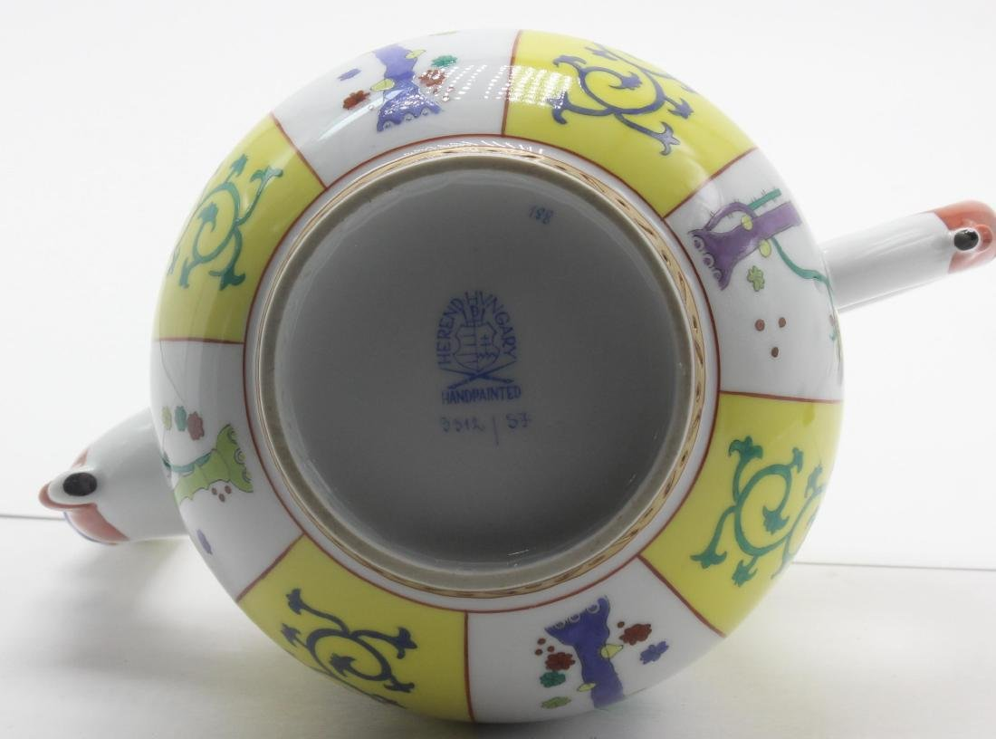 Herend (Hungary) Yellow Dynasty Porcelain Coffee Pot - 3