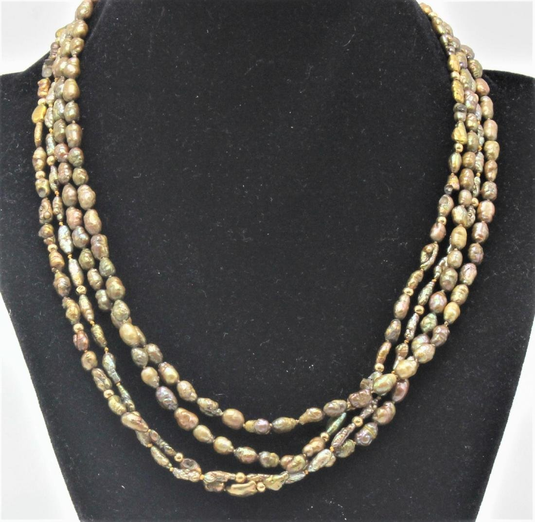 4 Strands Seed Pearls