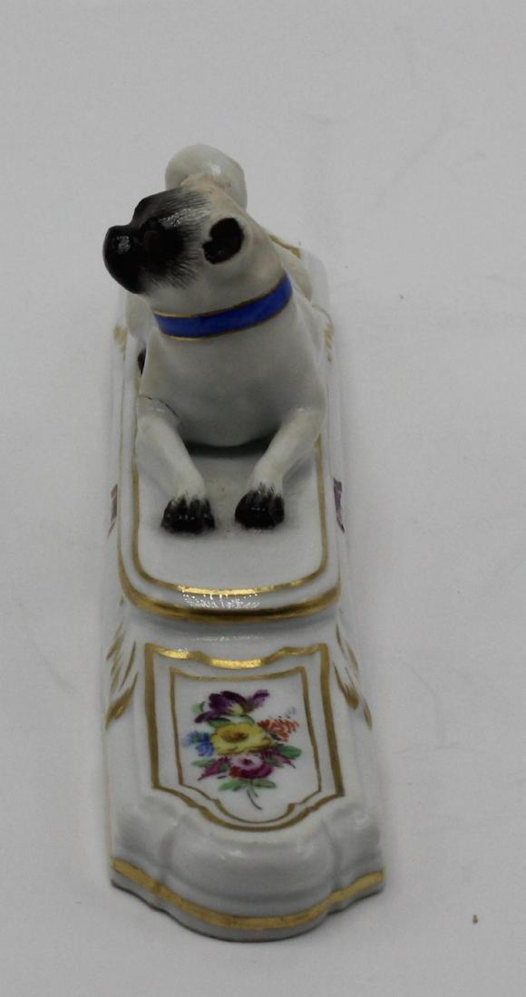 Antique Meissen pug dog - 2