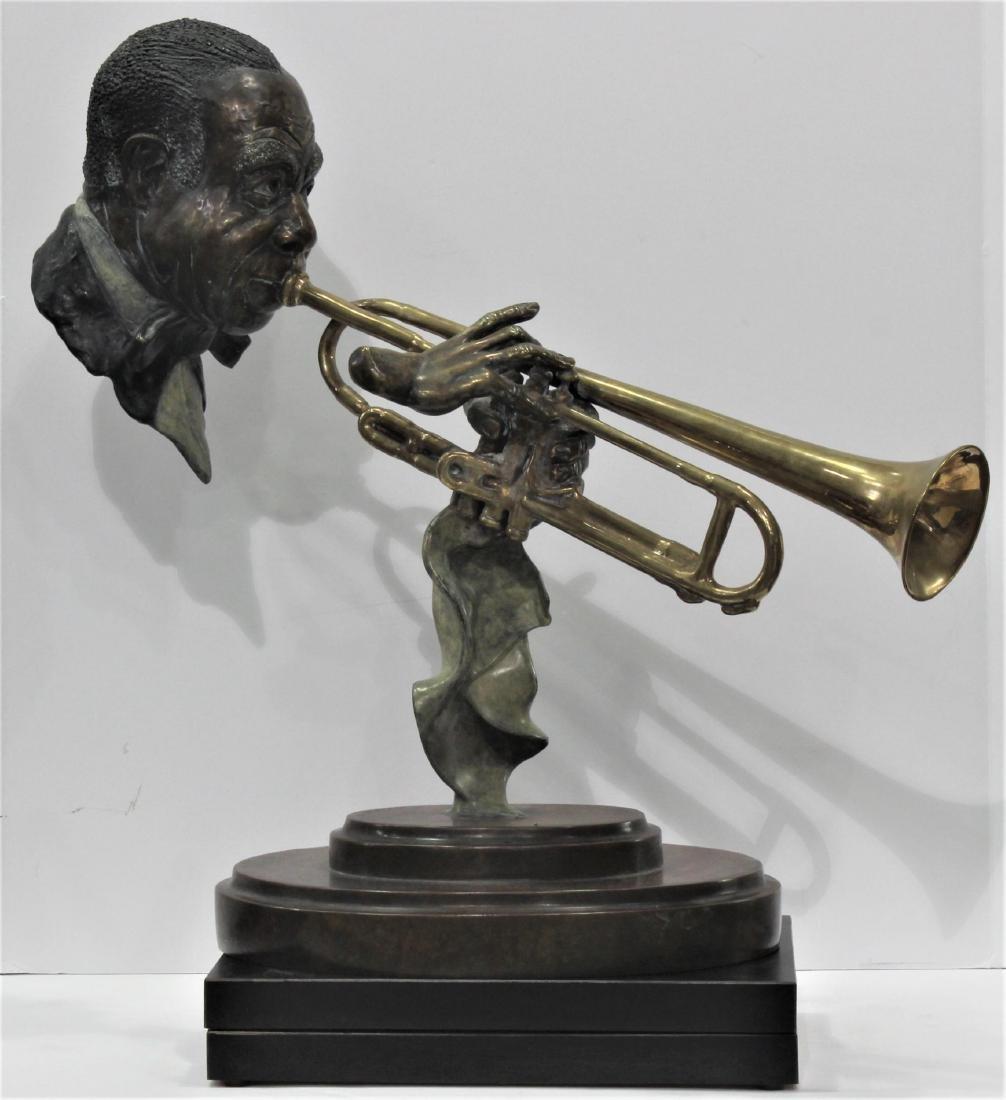 Paul Wegner Hello Louis polychrome bronze sculpture