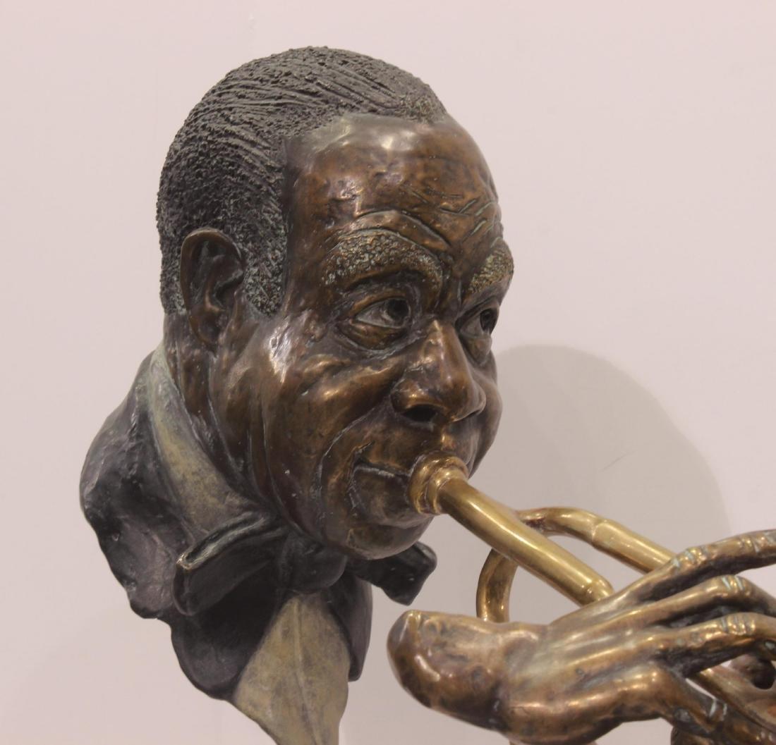 Paul Wegner Hello Louis polychrome bronze sculpture - 2