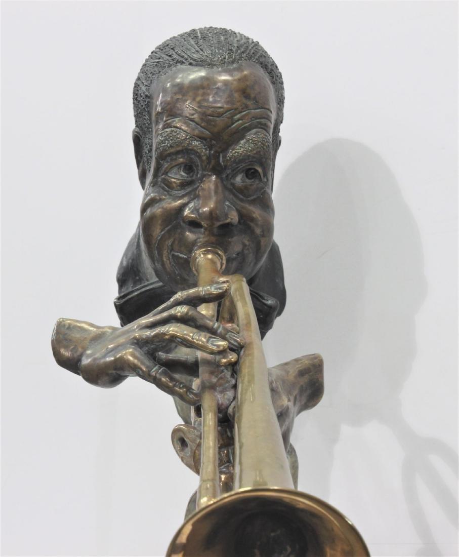 Paul Wegner Hello Louis polychrome bronze sculpture - 3