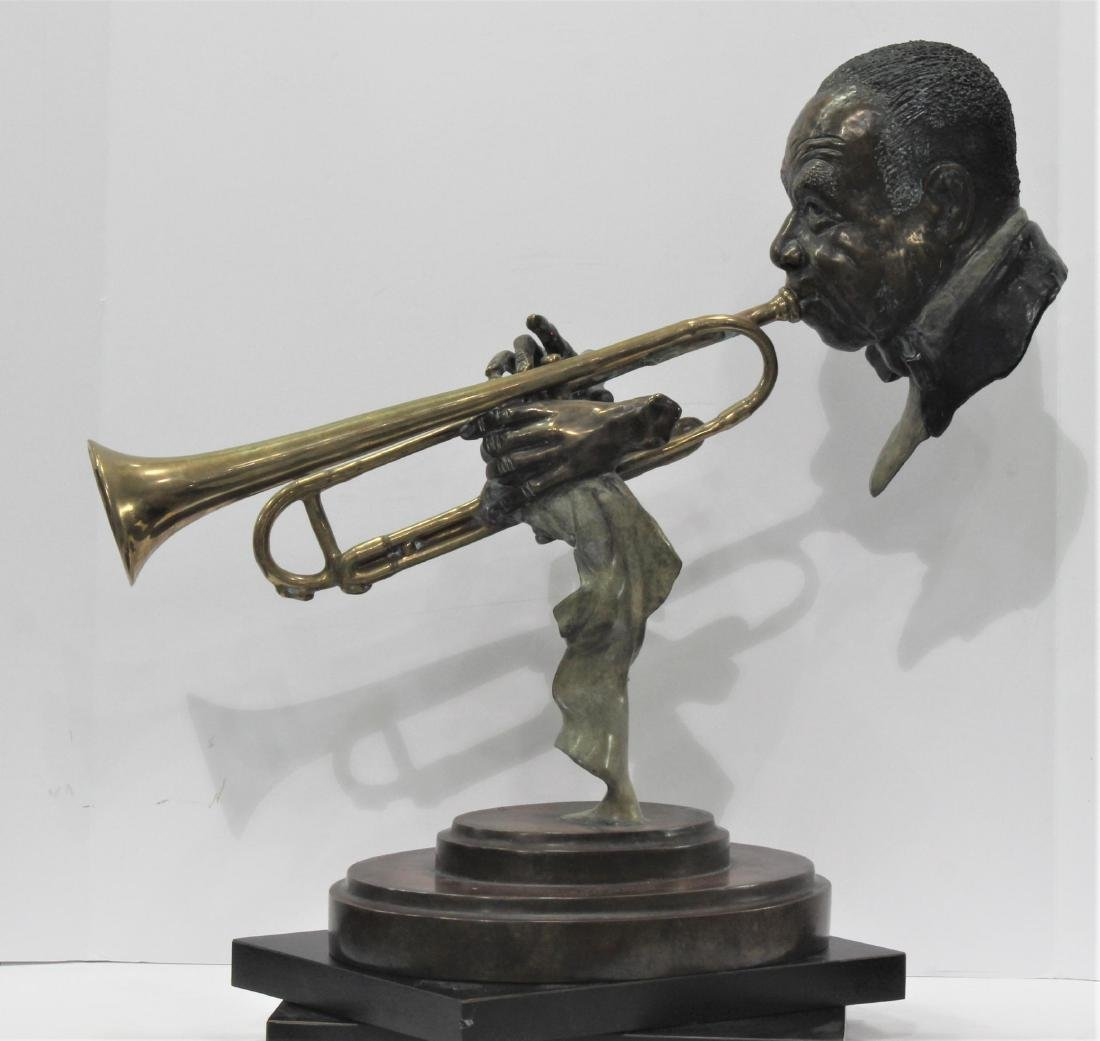 Paul Wegner Hello Louis polychrome bronze sculpture - 4
