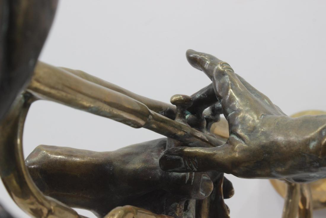 Paul Wegner Hello Louis polychrome bronze sculpture - 5
