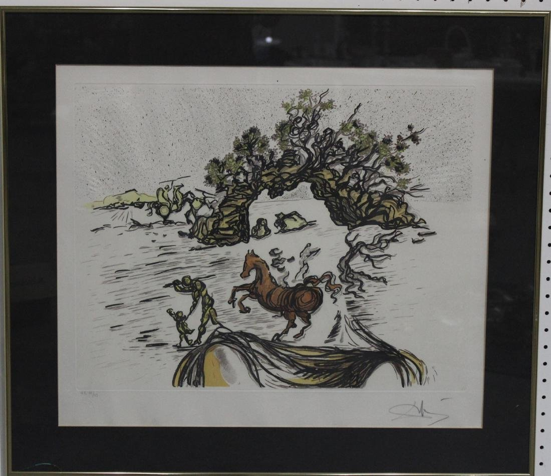 Salvador dali lithograph signed and numbered