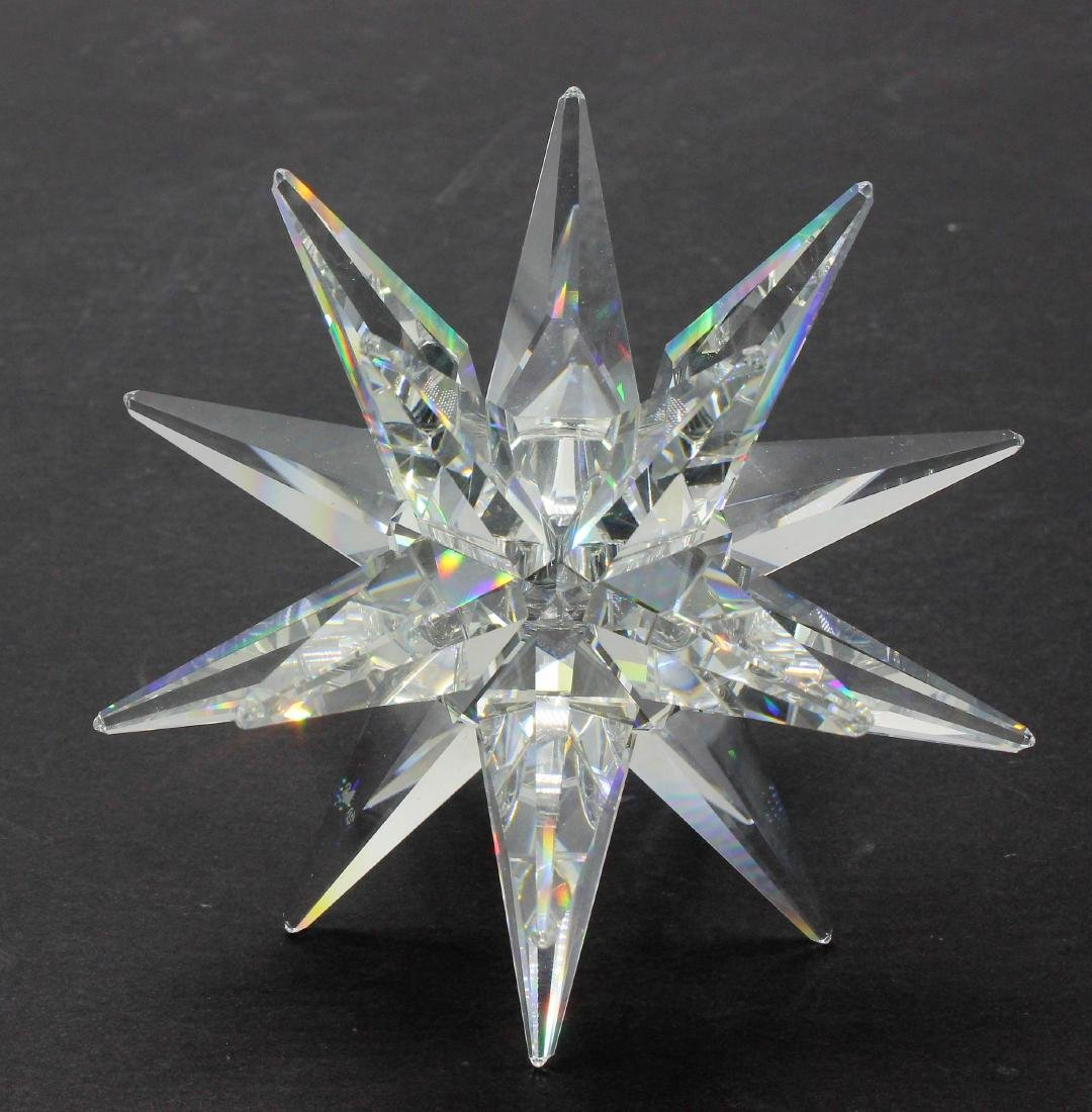 Swarovski crystal star candle holder
