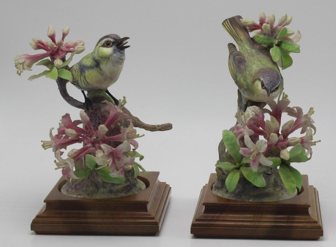 Pair of Royal Worcester Dorothy Doughty Birds Porcelain
