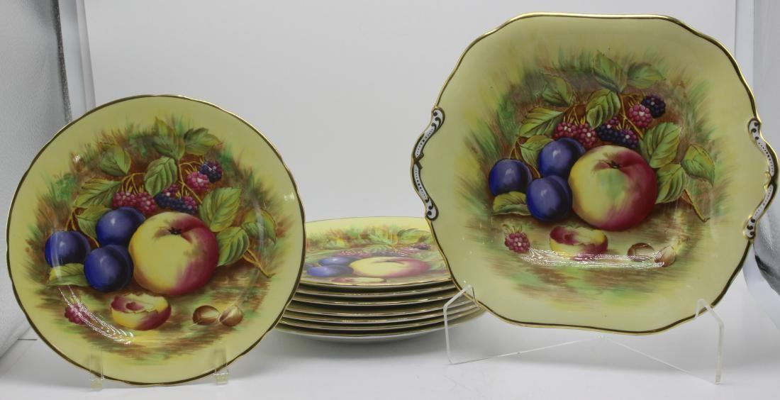 9 Pcs Aynsley England Bone China Porcelain Plate