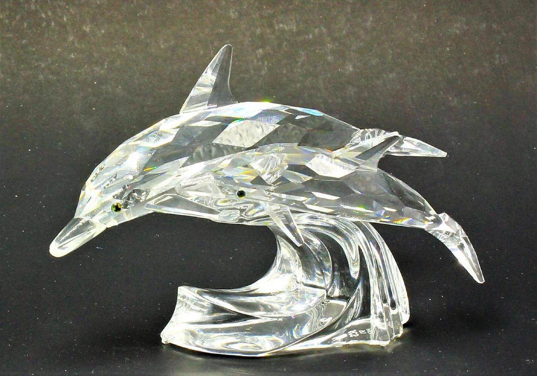 Swarovski Crystal Dolphin Group Figurine