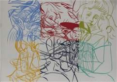 "David Salle ""Drunek Chauffer #3"" Silk Screen Print from"