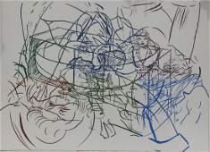 "David Salle ""Drunek Chauffer #1"" Silk Screen Print"