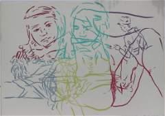 "David Salle ""Drunek Chauffer #5"" Silk Screen Print"