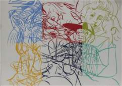 "David Salle ""Drunek Chauffer #3"" Silk Screen Print"
